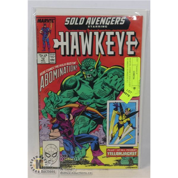 MARVEL COMICS SOLO AVENGERS STARRING HAWKEYE #12