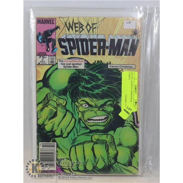 LOT OF 5 MARVEL SPIDERMAN COMICS