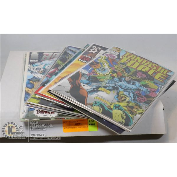 BOX WITH 11 #1 ISSUE COMICS