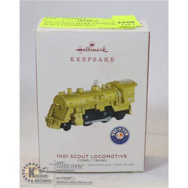 975-137 HALLMARK KEEPSAKE-1001 SCOUT LOCOMOTIVE