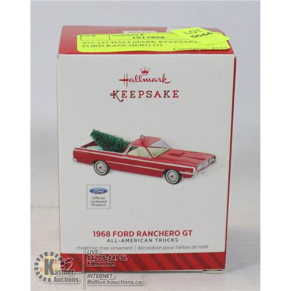975-135 HALLMARK KEEPSAKE-1968 FORD RANCHERO GT