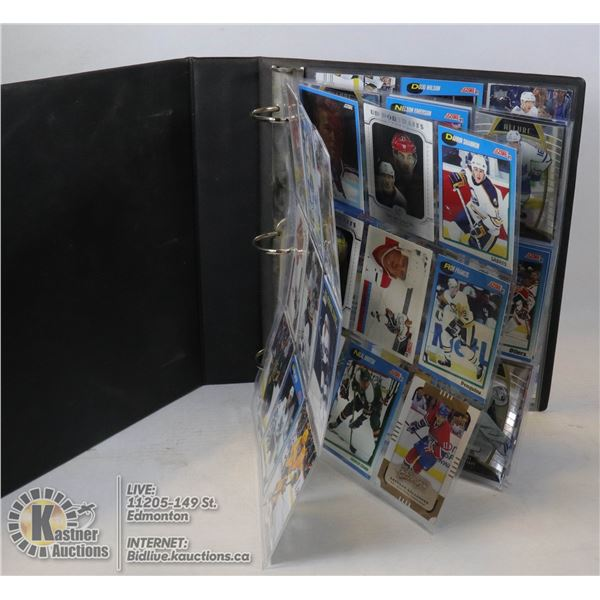 BINDER OF MIXED COLLECTABLE HOCKEY CARDS