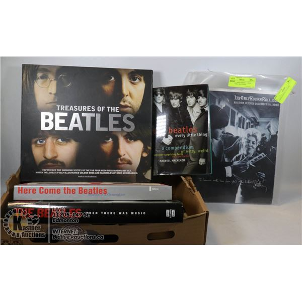 FLAT OF BEATLES BOOKS