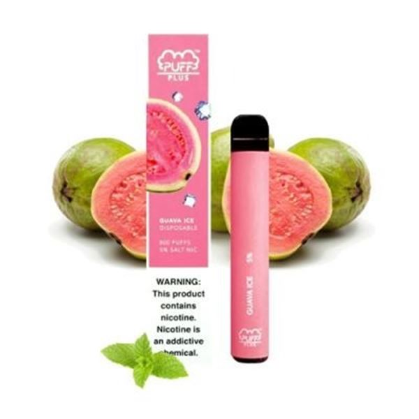 800 PUFFS PLUS E-CIGARETTE GUAVA ICE