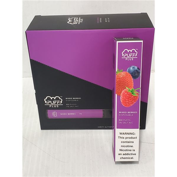 PUFF PLUS DISPOSIBLE E-CIGARETTE MIXED BERRIES