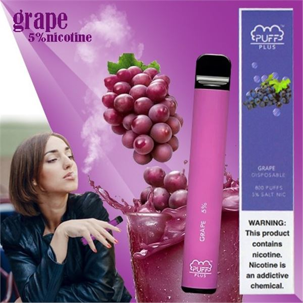 800 PUFFS PLUS E-CIGARETTE GRAPE