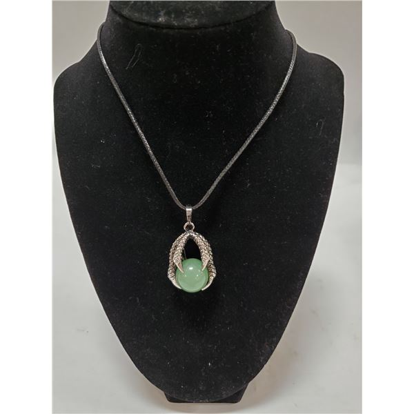 JADE BALL IN CLAW NECKLACE