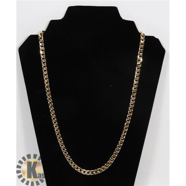 """NEW UNISEX 24"""" GOLD PLATED CHAIN"""