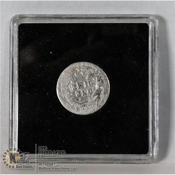 1907O SILVER BARBER HEAD USA 10 CENT COIN