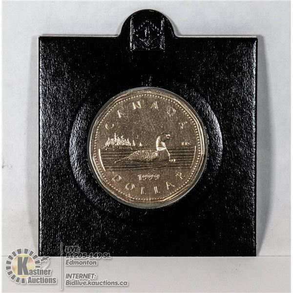 1999 CANADIAN LOON DOLLAR NOT ISSUED IN CHANGE