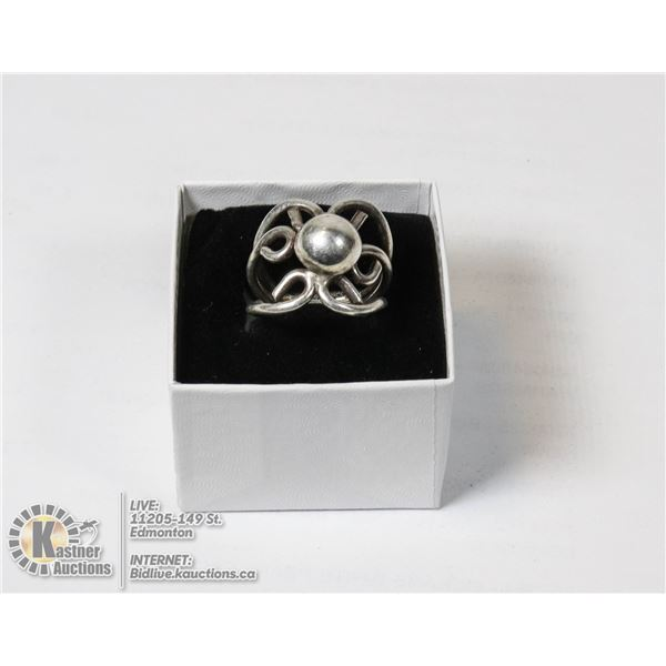 LARGE STERLING SILVER RING 2CM WIDE