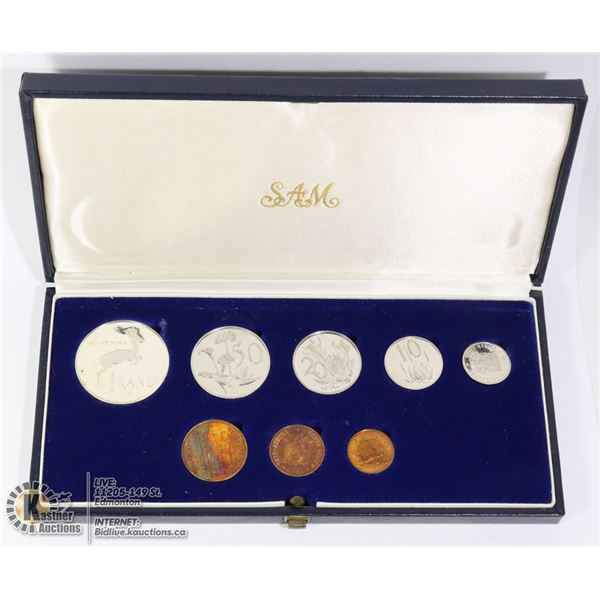 1981 SOUTH AFRICA 8 COIN PROOF SET CASE