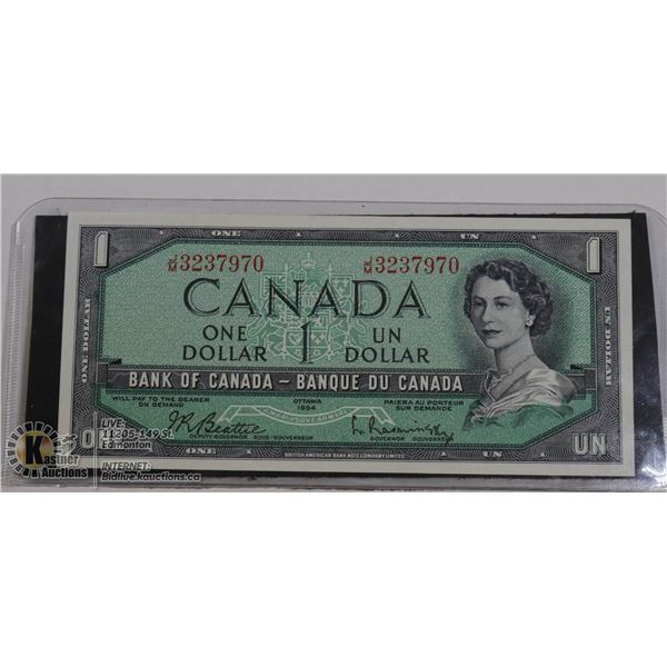 $1 1954 UNCIRCULATED J/M BEATTIE  RASMINSKY