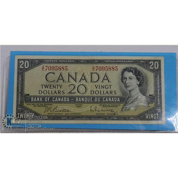 1954 CAN $20 BEATTIE--RASMINSKY Z/E BC-41B