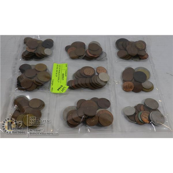 LOT OF WORLD COINS, INCLUDES SILVER, 1867 & UP