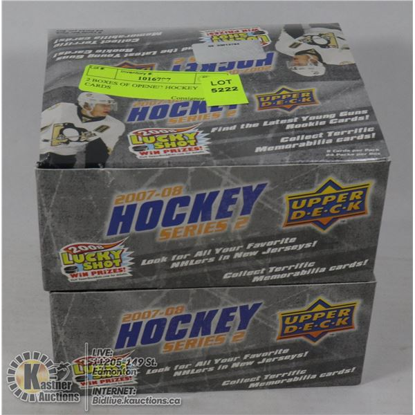 2 BOXES OF OPENED HOCKEY CARDS