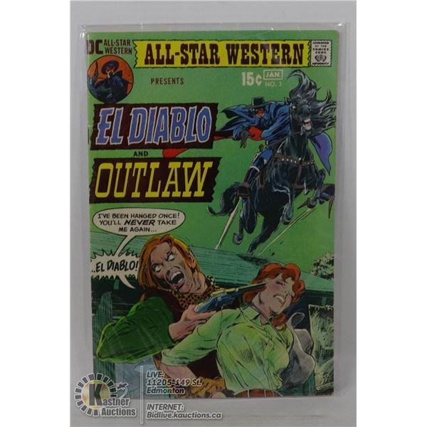 #3 EL DIABLO AND OUTLAW DC COMIC