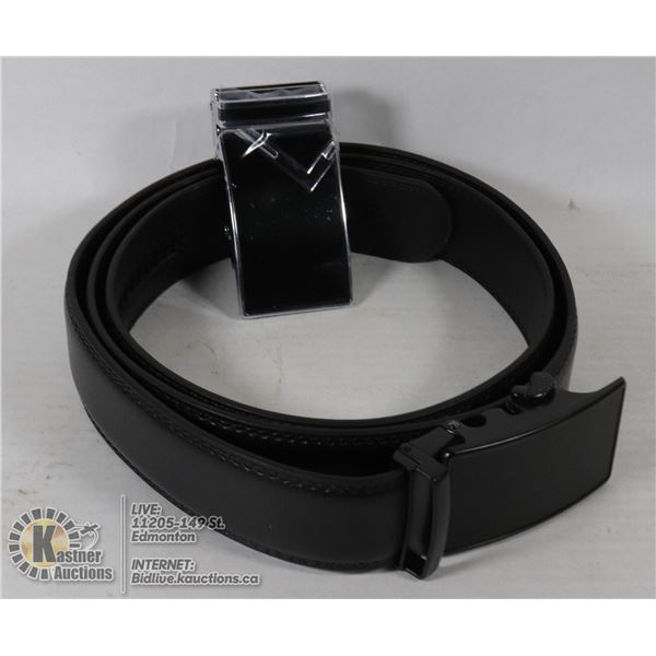 LEATHER 2 IN 1 BELT, COMES WITH 2 BUCKLES