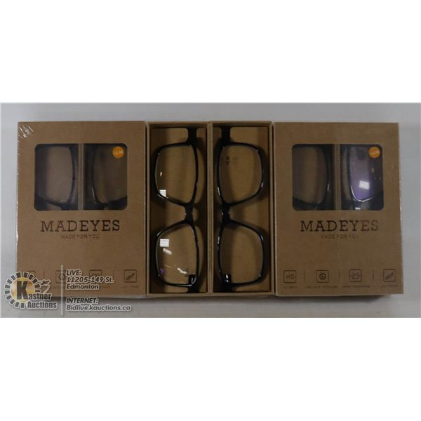 6 PAIR MAD EYES READING GLASSES, 2.50+