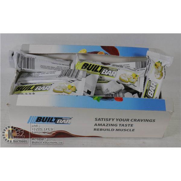 BOX OF BUILT BAR ENERGY-PROTEIN BARS