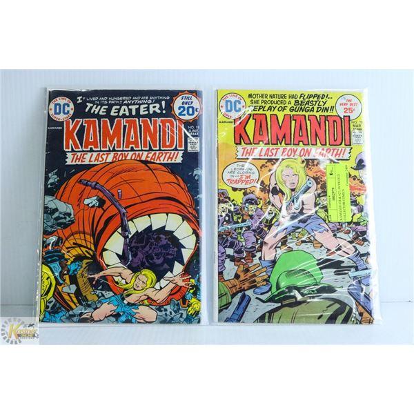 KAMANDI #18 & #27; 50 YR OLD COLLECTOR COMICS