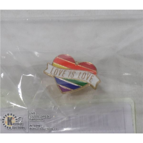 NEW LOVE IS LOVE PIN