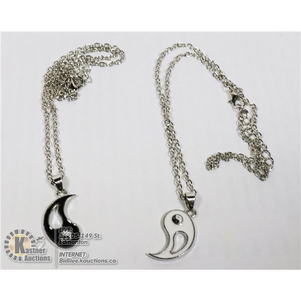 NEW YING AND YANG NECKLACE SET