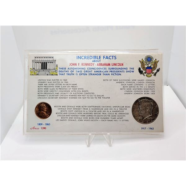 4)  KENNEDY US 1964 HALF DOLLAR AND LINCOLN