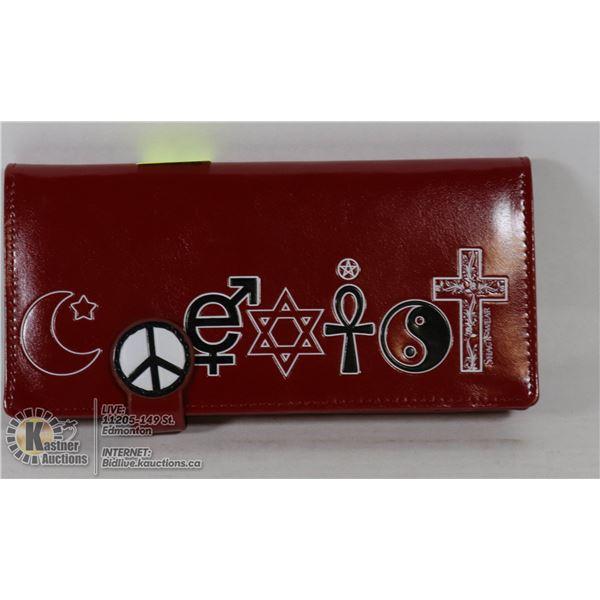 NEW SHAGWEAR RELIGIOUS SYMBOLS WALLET