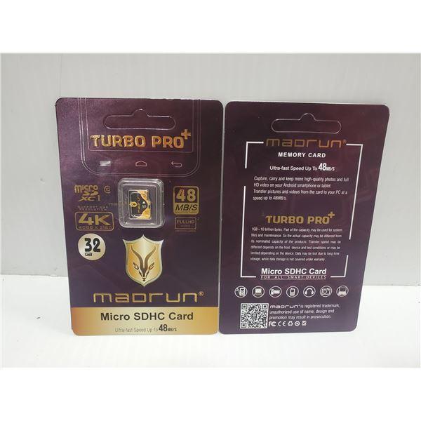 NEW MADRUN 32GB TURBO PRO MICRO SDHC CARD