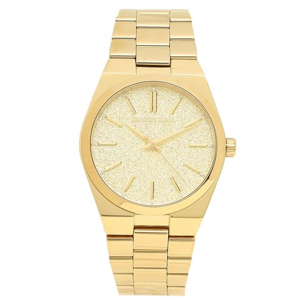NEW MICHAEL KORS CHANNING GOLD PLATED MSRP $295. WITH SPARKLING DIAL WATCH. JEWELLERY