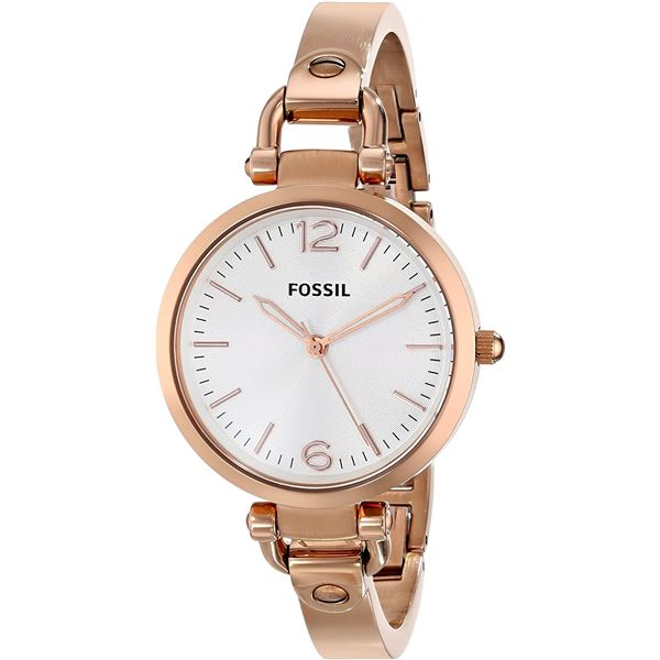 NEW FOSSIL WHITE DIAL ROSE-GOLD TONE 34MM WATCH GOLD COLOR MAY APPEAR DIFFERENT IN PICTURE BECAUSE O