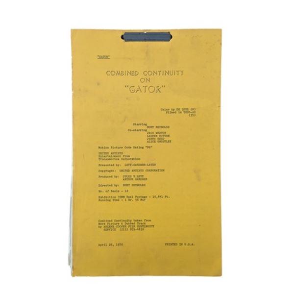 Gator (1976) Burt Reynolds Script