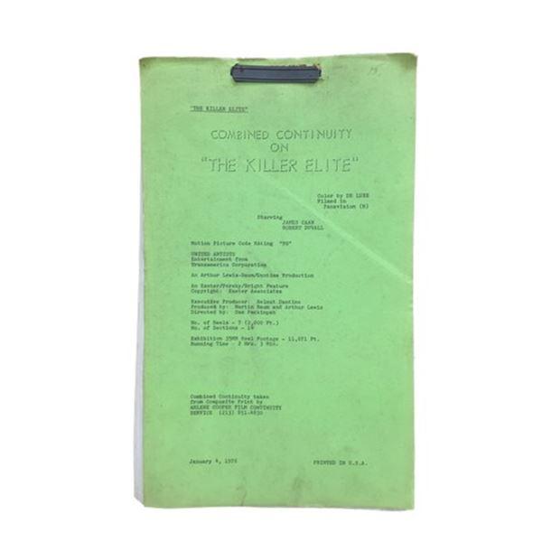 The Killer Elite James Caan Robert Duvall Script