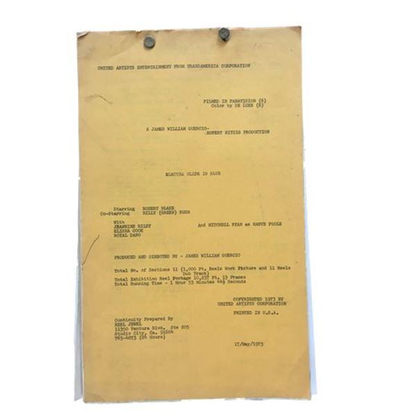 Electra Glide Into Blue (1973) Script