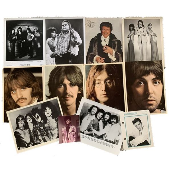 Elvis/Beatles/Kiss/Liberace Collection of Photos (12)