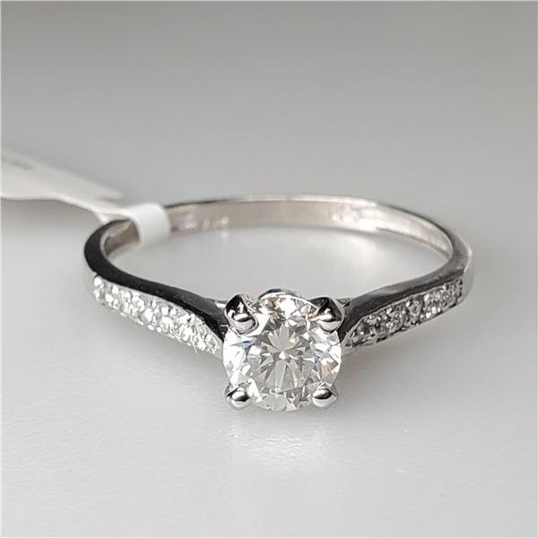14K DIAMOND (0.57CT) DIAMOND(0.1CT) RING SIZE 6.25