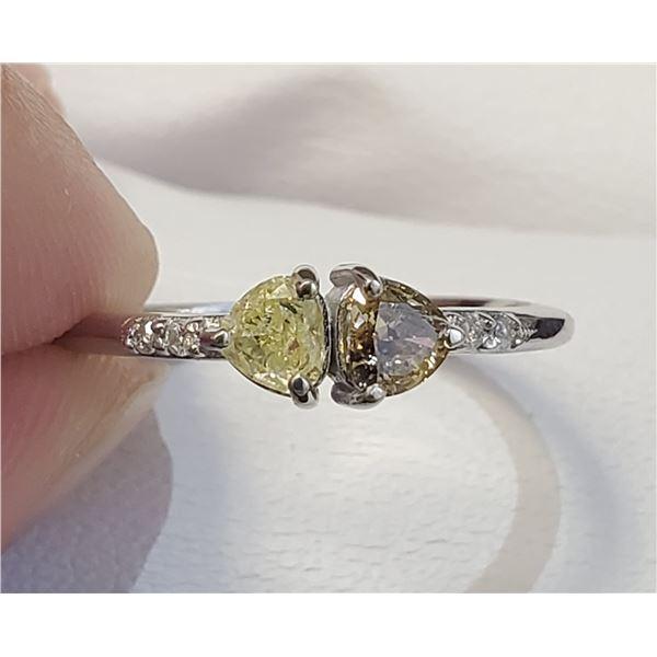 10K FANCY COLOR DIAMOND DIAMOND(0.3CT) RING SIZE 7