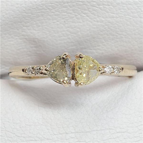 10K FANCY COLOR DIAMOND DIAMOND(0.3CT) RING 7