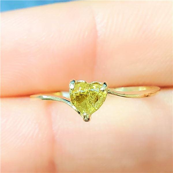 10K FANCY COLOR DIAMOND(0.32CT) RING SIZE 5.75