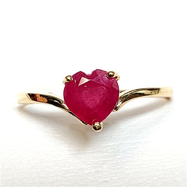 10K RUBY(0.95CT) RING SIZE 7
