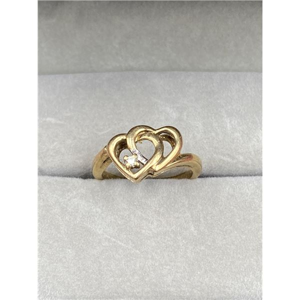 10K YELLOW GOLD RING WITH DIAMOND
