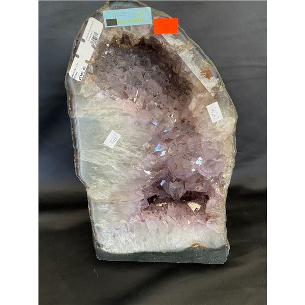 """AMETHYST GEODE CATHEDRAL RETAIL $2498.98, 13.20KG APPROX 8""""W X 13""""H"""