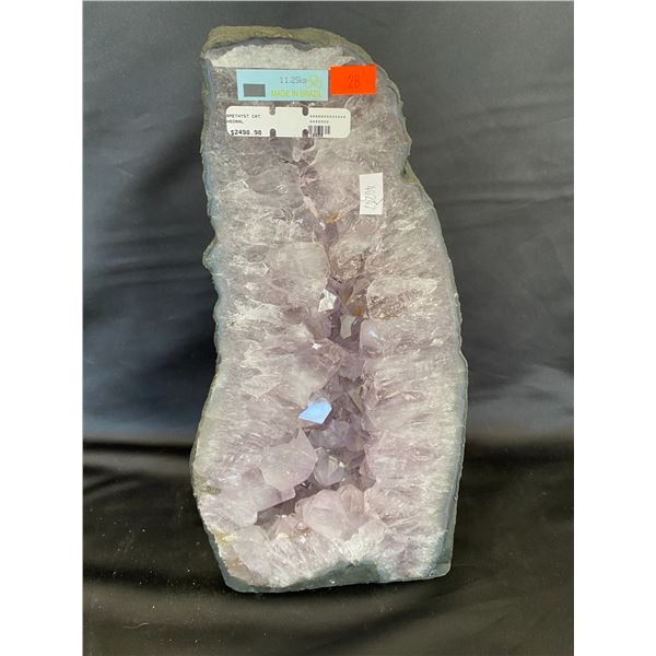 """AMETHYST GEODE CATHEDRAL RETAIL $2498.98, 11.25KG APPROX 7""""W X 14""""H"""