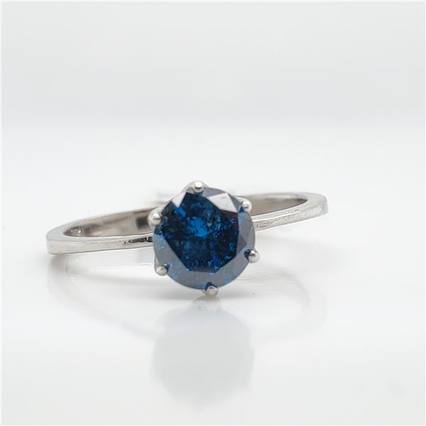14K BLUE DIAMOND(0.77CT) RING 6