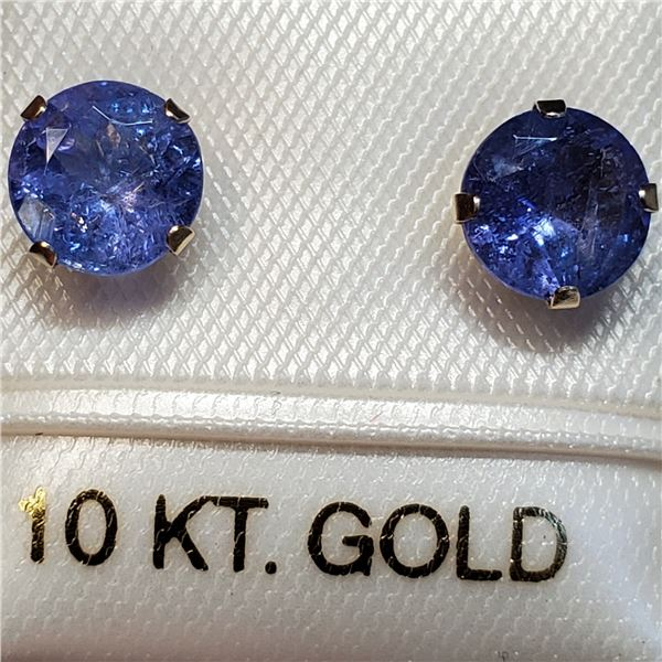 10K NATURAL TANZANITE(1.8CT) EARRINGS