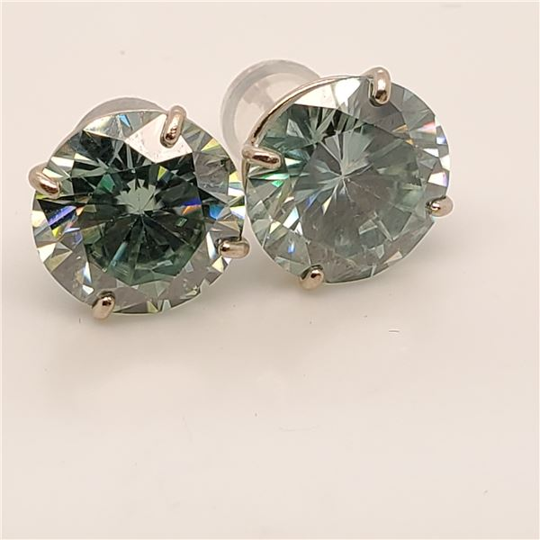 14K MOISSANITE(6.2CT) EARRINGS