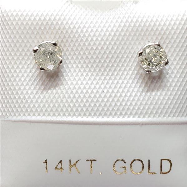 14K DIAMOND(0.19CT) EARRINGS