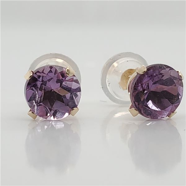 10K AMETHYST(1.5CT) EARRINGS