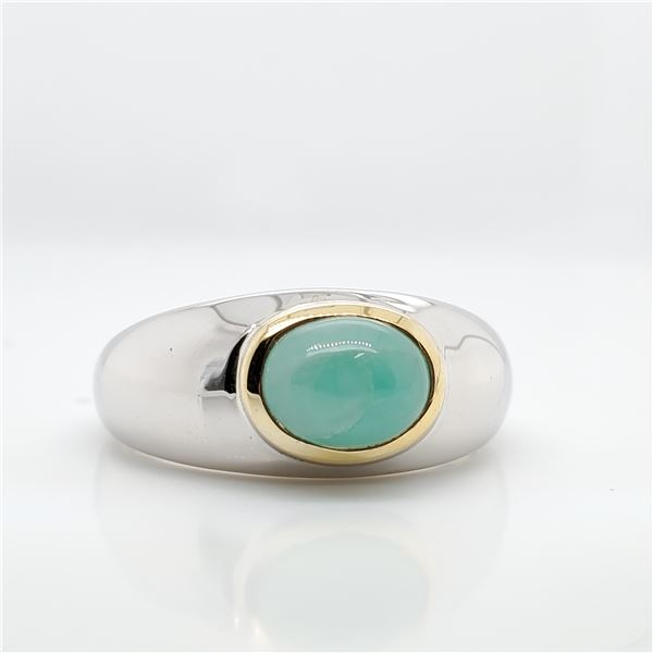 SILVER SAKOTA EMERALD(1.3CT) RING